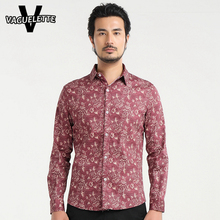 Luxury Hawaiian Shirt Printed Rose Floral Men Clothes Skinny Slim Fit Casual Stage Wear Plus Size 2016 Fashion Men Shirts M-5XL