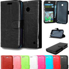 Amazing Case For Microsoft Lumia 630 635 Wallet Leather Flip Stand Cover Case For Nokia Lumia 630 635 With Card Slot Holder(China)