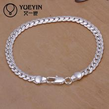 H199 Free Shipping Latest Women Classy Design  Snake Chain Bracelet Fit silver Bracelet & Bangle Chain Charm Beads 16CM-21CM