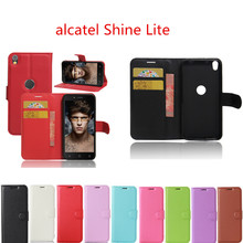 Hot Selling alcatel Shine Lite 5.0inch Case Wallet Style Leather Mobile Phone Protective Back Cover For Alcatel Shine Lite 5080X