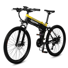 26 inches dark knight Fold mountain electric bicycle smart li-ion battery 48 v250w commuter hybrid rang70km luxury off-road moun