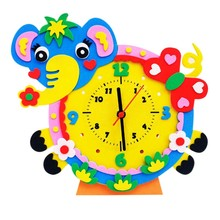 DIY Alarm Clock EVA Puzzle Toys Children Educational Toys Baby Kids Early Learning Toy