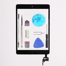New Touch screen  for iPad Mini 1/2 mini 3 Touch Screen Digitizer Front Glass with home button and Ic connector + Full tools