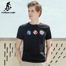 Pioneer Camp Supper soft mercerized cotton T shirt men brand clothing the space element T-shirt male top quality Tees ADT701165(China)