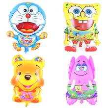 4p/lot Inflatable Animal Red Feet Sponge Bob Shape Foil Balloons Spongebob Jingle cats Birthday Party Supplies Classic Air Balls