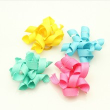 Wholesale Pet Products Hand Made Dog Grooming Pet Hair Bows Doggie Boutique Party Show Candy Colors Mixture 50PCS/LOT
