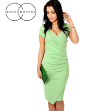 business dress office work Large size dress clothes for women Big dresses of large sizes casual party slim Sexy V-neck Vestidos