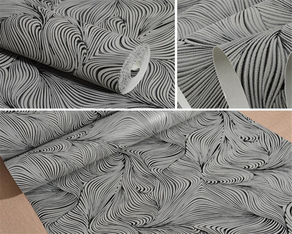 Beibehang Modern simple arc wallpaper bedroom living room television background wall net coffee shop abstract lines 3d wallpaper<br>