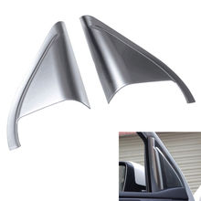 Front Door Tweeter Audio Speaker Horn Sound Cover Trim ABS Frame Decoration Fits For Peugeot 408 2014 Car Styling