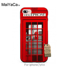 Silicone case London Phone Booth Interesting Design High Quality Classic High-end phone Accessories  For case  6 6plus 7 7plus