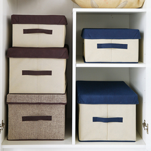 New Clothes Wrapped storage box  Japanese non-woven clothing bin wardrobe sundry receive a case locker sorting box