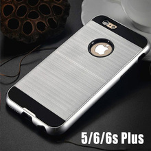 Luxury New Brand PC Case for fundas iphone 7 7plus 6 6S Plus 5 5s Slim Hard Cover Brushed Aluminum Style Armor Tough Accessories