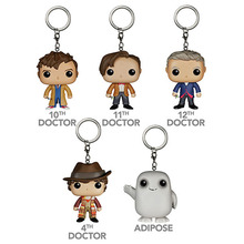 FUNKO POP Pocket Doctor Who Keychain Adipose Tenth Eleventh Twelfth 10th 11th 12th Action Figure key Ring  toy Movies Gifts