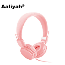 [Aaliyah] New Arriving 3.5mm Cartoon Earphone Pink Headset Dj Headphone For Girls Kids With Mic