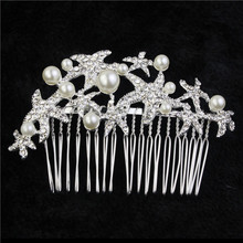 Bridal Handmade Pearl & Rhinestone Hair Comb / Wedding Hair Comb / Vintage Inspired Comb