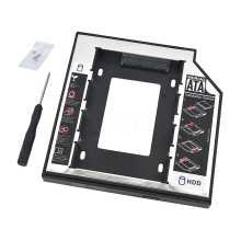 "for Laptop DVD/CD-ROM Universal 2nd HDD Caddy 12.7mm SATA 3.0 For 7/9/9.5/12.5mm 2.5""SSD HDD Case Enclosure high quality"