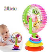 Jollybaby Baby Rattles Colorful Ferris Rotating Wheel With Suction Cups Bebek Early Development Musical Creative Baby Toys(China)