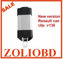 2pcs/lot DHL free For Renault CAN Clip v165 Diagnostic Interface with multi-language for Renault can clip interface v165