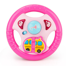 New Pink Lighting Educationa Carton Music Steering Wheel Developmental Music Kids Toys For Children Intelligent Improvement(China)