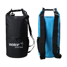 10L 20L Outdoor River trekking bag Dry Bag Double shoulder straps Water Pack Swimming Backpack Waterproof Bags Drifting Kayaking(China)