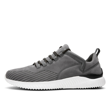 2017 Spring/Autumn Quality Mens Sport Shoes Brands Black/Gray Athletic Running Sneakers Men  Leather Training Sport Shoes