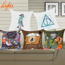 Hyha Harry Potter Style Dobby Polyester Cushion Cover Goblet of Fire The Deathly Hallows Pillow Cover Decorative Cushion Cover