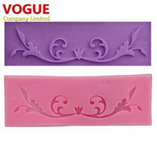 Hot DIY Flower Vine Lace Cake Silicone Moulds Pastry Tools Jello Sugar Fondant Silicone Candy Cake Molds  N1942