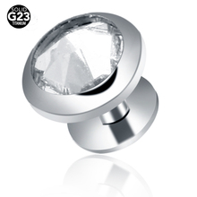 1PC 100% Titanium Micro Dermal Anchor Disc Hide in Skin Jewelry Rings Eyebrow Piercings with Clear Crystal Body Piercings