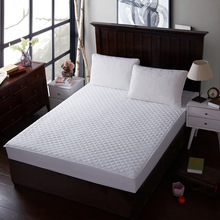 White Mattress Covers Four Seasons Anti Dust Mite mattress protector 100% Cotton Air-Permeable Elastic housse matelas Customized(China)