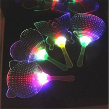 Gafas Led New Products 15pcs/lot Novelty Led Flashing Fan Colorful Acrylic Night Glowing Light-up Toys Concert Party Kids Gift(China)