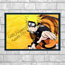 Naruto Poster Japanese Anime Wall Art Silk Fabric Posters Prints Wall Pictures Living Room Wall Unframed