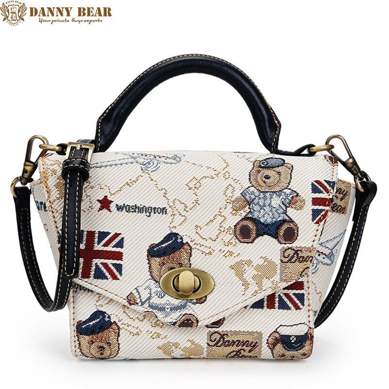 DANNY BEAR Fashion White Shoulder Bags Fresh Ladies Handbags Original Designers Women Messenger Bags bolsa de mensajero<br>