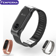 Metal Strap For Xiaomi Mi Band 2 Bracelet Belt For Xiaomi Miband 2 Strap Replacement OLED Display Wristbands Black/Silver/Golden