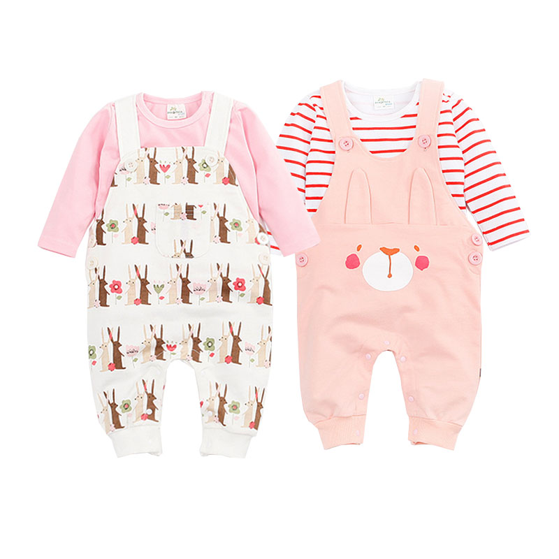 Baby Boys Girl Clothing Set 2017 Spring Cotton Overalls Cartoon Bib Pant+Animal T-shirt Newborn Clothes Wear Bebes 0-24 Months<br><br>Aliexpress