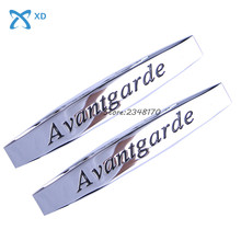 Auto Decals Car Side Fender Stickers Metal Badge Emblem Avantgarde Logo Mercedes W203 W204 W211 W210 GLA CLS E V C - XD Autoparts Store store