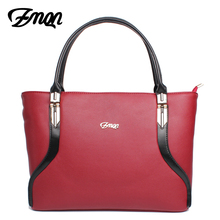 ZMQN Tote Bags Handbag Women Famous Brand PU Leather Luxury Designer Handbag High Quality High Capacity Ladies Hand Bag Red A805(China)