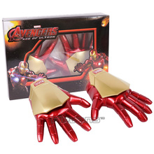 New Avengers Age of Ultron Iron Man Gloves with LED Light For Kids PVC Figure Collectible Model Toy 21cm