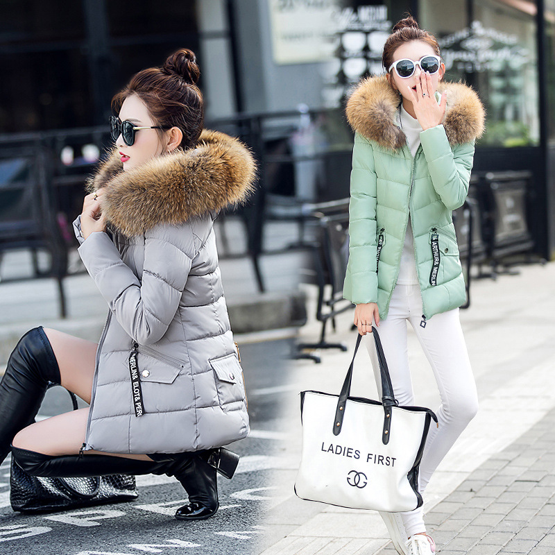 2017 new womens winter coat high quality fur collar short thin cotton padded jacket down female winter coatsОдежда и ак�е��уары<br><br><br>Aliexpress