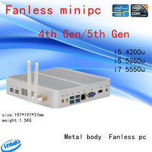 HRF intel Hanswell I5 4200U Intel HD Graphics 4400 Fanless I5 Barebone Mini Pc Windows 7 win8 win10 4K VGA HDMI Mini Nettop Htpc(China)
