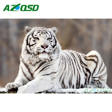 White Tiger Pictures Of Rhinestones Diamond Mosaic Cross Stitch 3D Diamond Embroidery Painting Home Decoration GD019