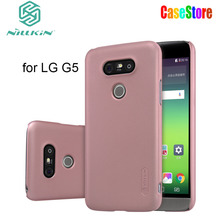 "Nillkin Frosted Shield Cell Phone Case For LG G5 H850 H840 (5.3""inch) Nilkin Hard Back Cover Case with Free Screen Protector(China)"