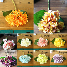 1 Pcs Artificial Hydrangea Silk Flower Decorative Simulation Flowers For Home Wedding Party P20