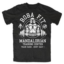 Buy Boba Fit T Shirt Mens Star Wars Mandalorian Train Center Tops Tee Shirts Jedi Stormtrooper Camisetas Homme T-shirt S-3XL for $17.08 in AliExpress store