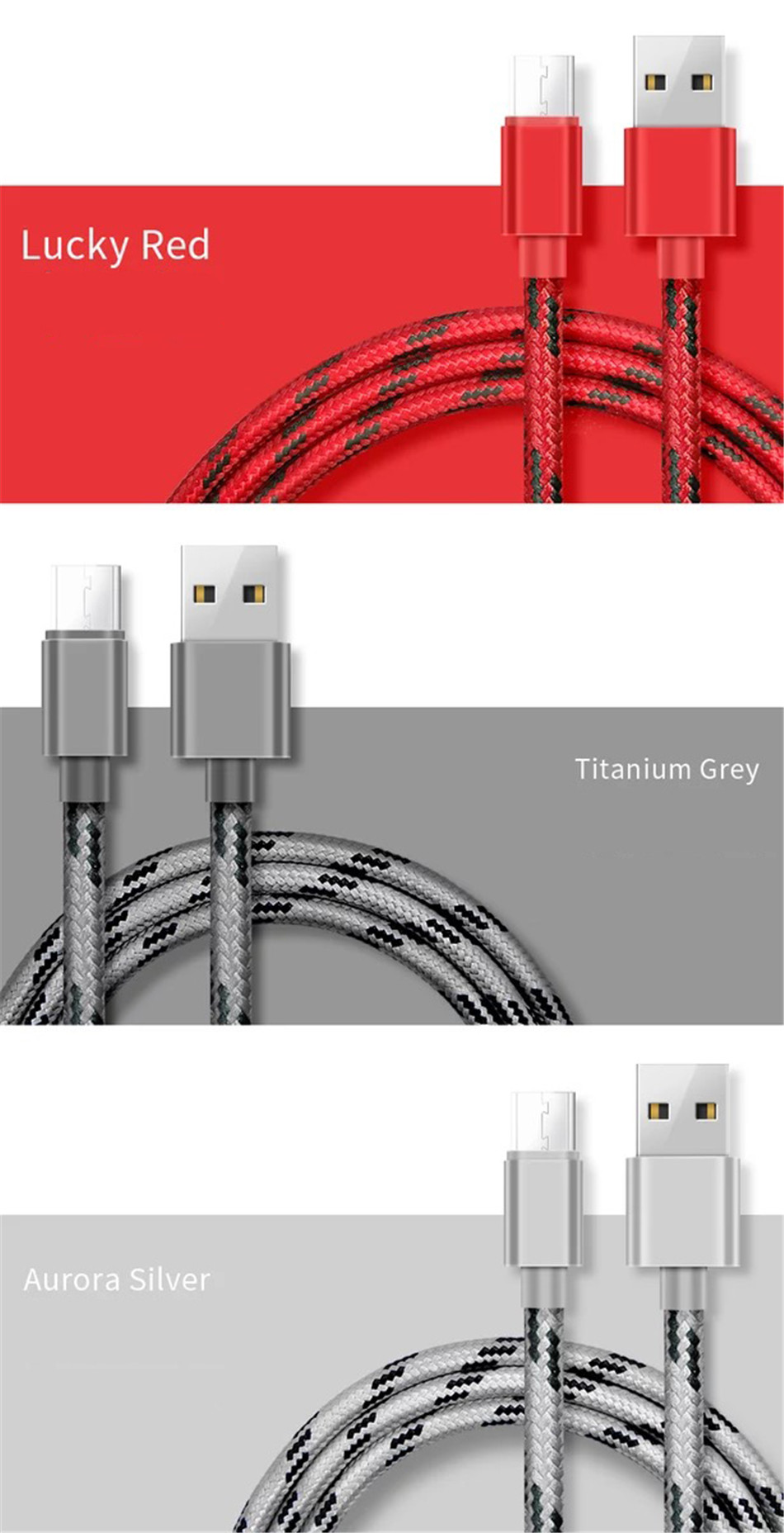 NOHON Nylon Charging Sync Cable Micro USB For Samsung Galaxy S7 S6 For Huawei For Xiaomi Redmi Android Phone Fast Charger Cord (12)