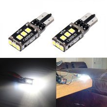 4Pcs Xenon White Build in Canbus T10 Super Bright 2835 SMD LED Light Bulb for Car Auto Back up Reverse Driving (T10) Error Free