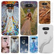 angel wings animei cute Clear Cell Phone Case Cover Shell for LG K3 K4 K8 K10 G3 G4 G5 G6 2017 V10 V20 K5 stylus3
