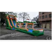 20m Long Coconut Large Inflatable Slide Beach Water Slide Inflatable Game Giant Inflatable Water Slide For Adult