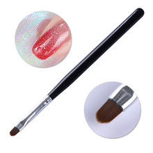 Oval Painting Pen UV Gel Drawing Brush Black Handle Manicure Acrylic Nail Art Tool with Cap 1 Pc(China)