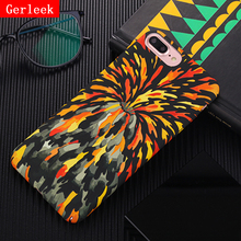 Gerleek Volcanic Eruptions Back Cover For iphone 8 Plus 8plus Hard Plastic Cases Colorful Flame Painted Phone Case For iphone8(China)