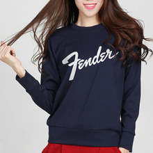 2016 fender band simple sweatshirt printing logo fleece autumn new arrive women hoodie casual slim suit for femme hot sale